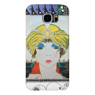 WOMAN WITH ORIENTAL YELLOW TURBAN / Beauty Fashion Samsung Galaxy S6 Cases