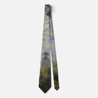 Woman with Parasol by Claude Monet, Vintage Art Tie
