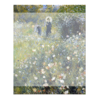 Woman with Parasol in a Garden by Renoir Flyer