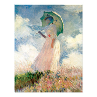 Woman with Parasol Promenade Monet Personalized Flyer