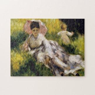 Woman with Parasol Renoir Fine Art Puzzle