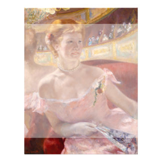 Woman with Pearl Necklace in a Loge - Mary Cassatt Custom Flyer