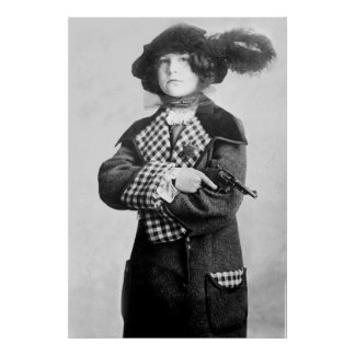 Woman with Pistol: 1910 Poster