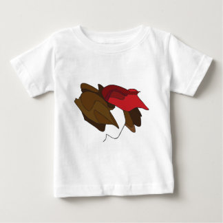 Woman with Red Hat Baby T-Shirt