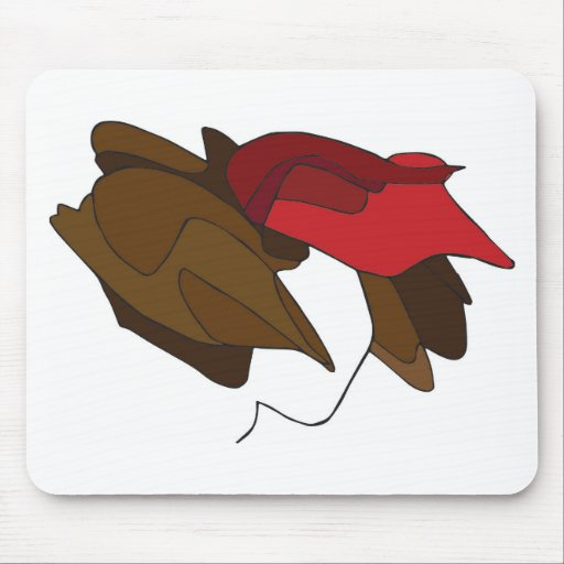 Woman with Red Hat Mousepad