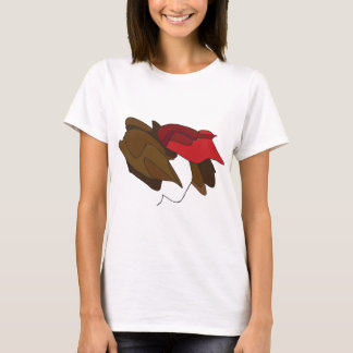 Woman with Red Hat T-Shirt