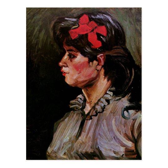 Woman with Red Ribbon (F207) Van Gogh Fine Art Postcard