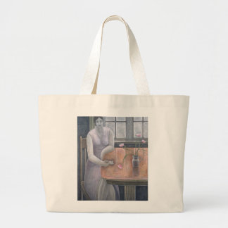 Woman with Small Cup 2007 Large Tote Bag