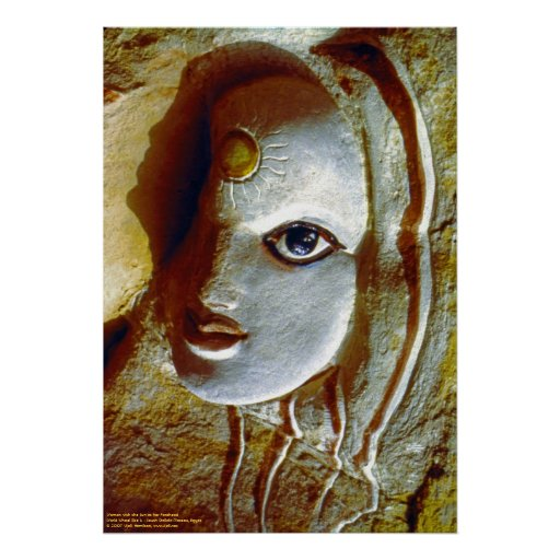 Woman with the Sun at her Forehead/Poster Poster