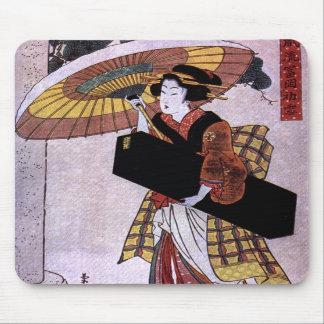 Woman with Umbrella 2 Mousepad