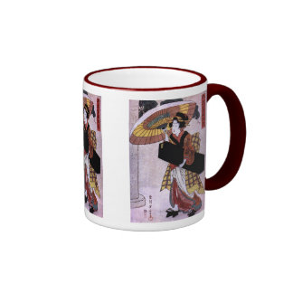 Woman with Umbrella 2 Mugs and Steins
