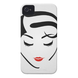 woman with vintage hairstyle and make up iPhone 4 Case-Mate cases