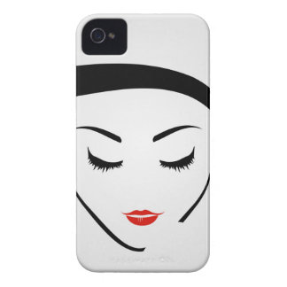 woman with vintage hairstyle and make up iPhone 4 cover