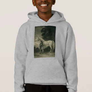 Woman with white horse.