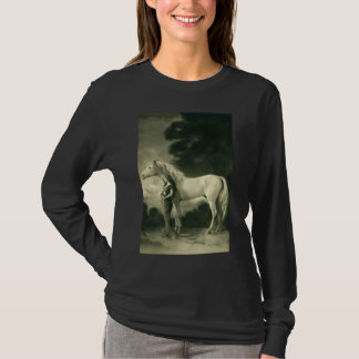 Woman with white horse. T-Shirt