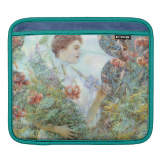Woman with White Parasol Fine Art iPad Sleeve