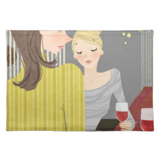 Woman with Wine Placemat