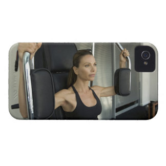Woman working out in a gym iPhone 4 case
