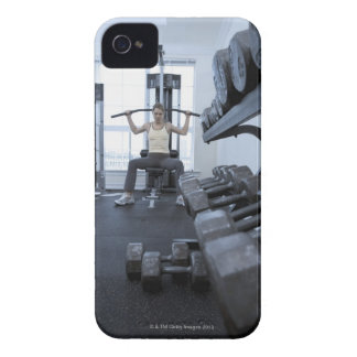 Woman working out with weights 2 iPhone 4 Case-Mate case