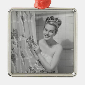 Woman Wrapped Up Christmas Ornament
