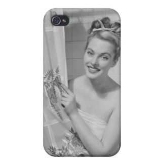 Woman Wrapped Up iPhone 4 Cover