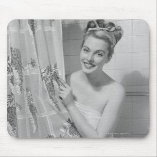 Woman Wrapped Up Mouse Pad