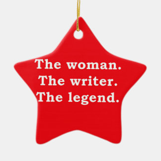 Woman - Writer - Legend Ceramic Star Decoration
