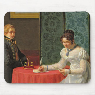 Woman Writing a Letter Mouse Pad
