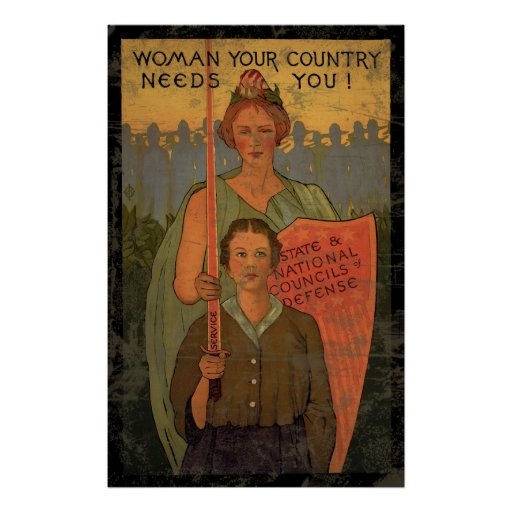 Woman Your Country Needs You Print