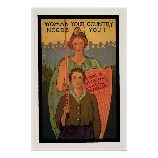Woman Your Country Needs You! Posters