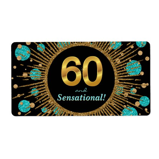 Womans 60th Birthday Party Water Bottle Labels