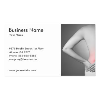Woman's Back Business Card Template Business Cards