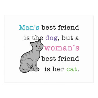 Woman's Best Friend - Her Cat Post Card