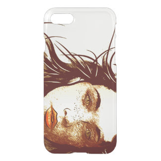 Woman's Blowing Hair, Color iPhone 7 Case