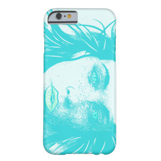 Woman's Blowing Hair, Teal Barely There iPhone 6 Case