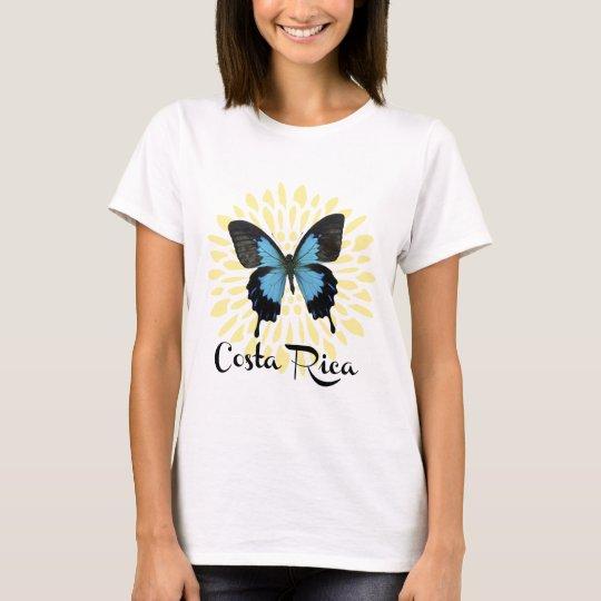 Woman's Blue Morpho Costa Rica T-Shirt