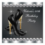 Womans Chic Black Birthday Party