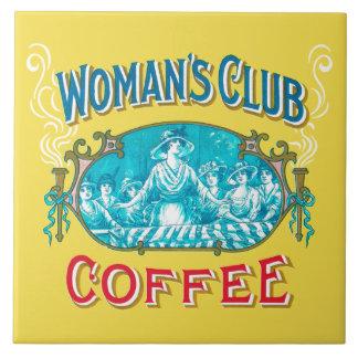 Woman's Club Coffee Trivet Large Square Tile