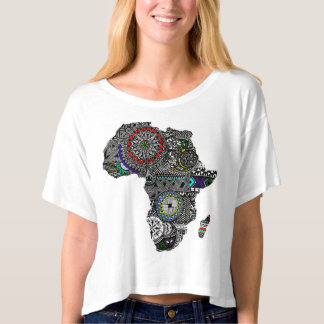 Womans Crop top Africa Color shirt