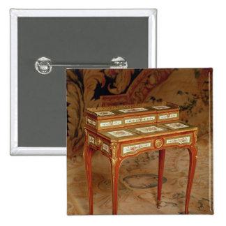 Woman's desk with panels of Sevres porcelain 15 Cm Square Badge