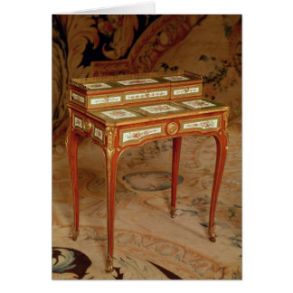 Woman's desk with panels of Sevres porcelain Greeting Card