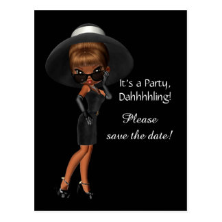 Womans Diva Save the Date Postcard