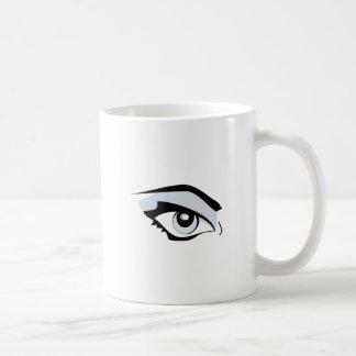 Womans Eye Basic White Mug