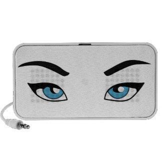 Womans Eyes Laptop Speaker
