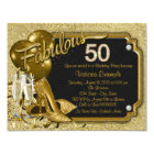 Womans Fabulous 50 Birthday Party Card