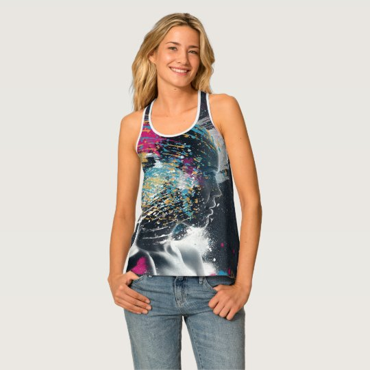 Womans Face Tank Top