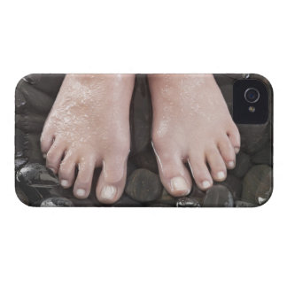 Woman's feet on pebbles iPhone 4 Case-Mate case