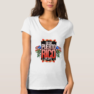 Womans Go-GoPuertoRico V-neck shirt