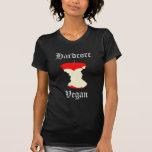 Womans Hardcore Vegan Apple Shirt