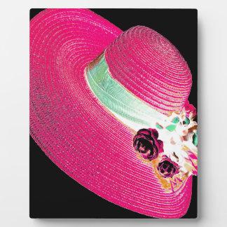 woman's hat plaque